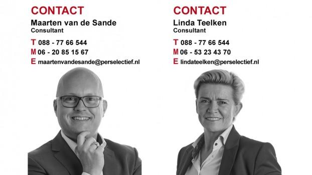Perselectief Maarten van de Sande en Linda Teelken Management vacatures