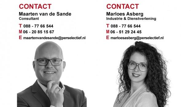 Maarten van de Sande en Marloes Asberg werving & selectie Dienstverlening