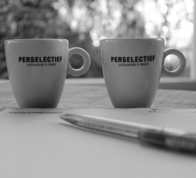 Zakelijk koffie drinken met Perselectief